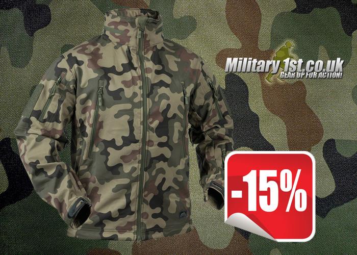 Mil1st Helikon Gunfighter Soft Shell Jacket Polish Woodland Sale