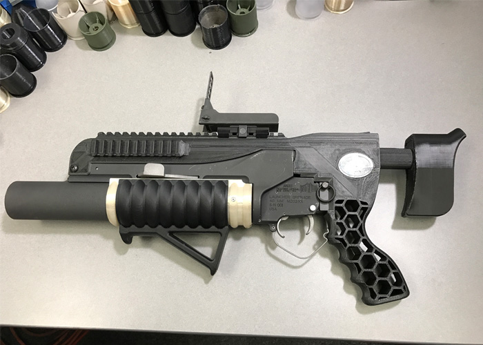 ARDEC RAMBO 3D-Printed Grenade Launcher