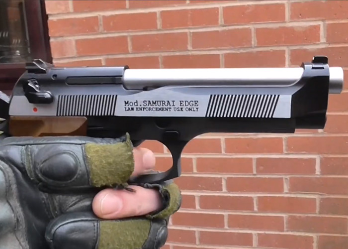 Burntwolf Airsoft WE Samurai Edge GBB Pistol Review