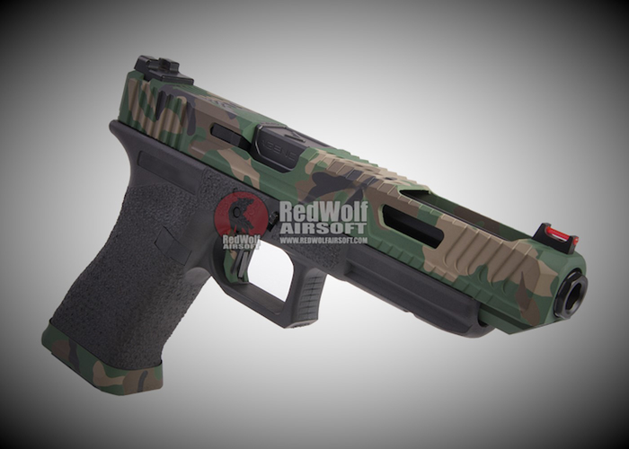 RWC Agency Arms Bonesaw 34 In Cerakote Woodland