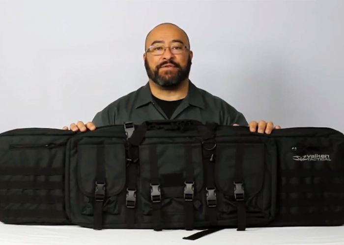 "Valken 46"" Double Rifle Tactical Gun Case"