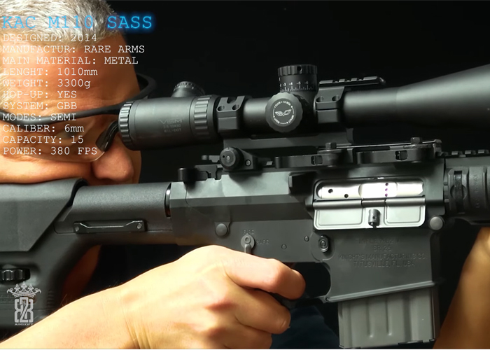 "BB2K Airsoft Rare Arms KAC M110 SASS In ""Gun In 60 Seconds"""