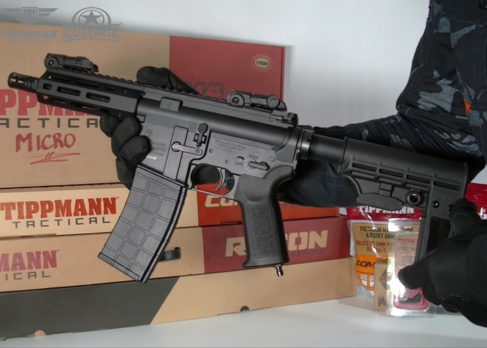 Airsoft Mike: Tippmann M4-22 Micro Elite HPA CO2 Pistol