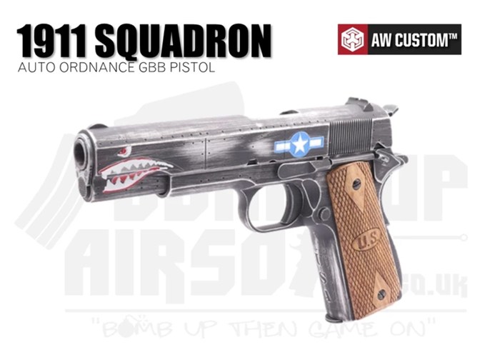Bomb Up Airsoft AW/Ordnance 1911 Squadron GBB Pistol