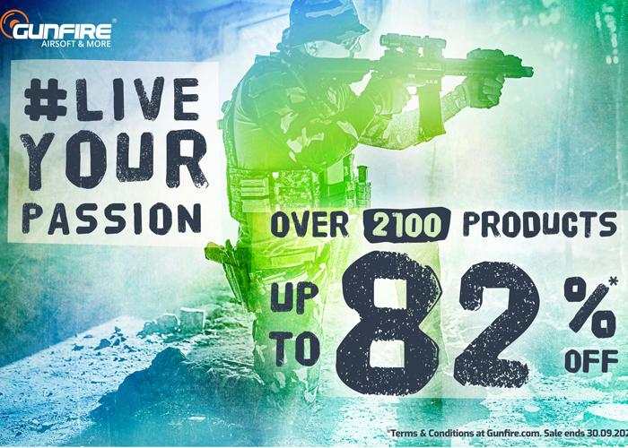 Gunfire Live Your Passion Sale 2020