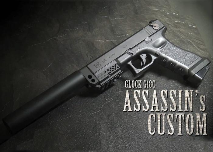 Laylax G18 Assassin's Custom Video   Popular Airsoft